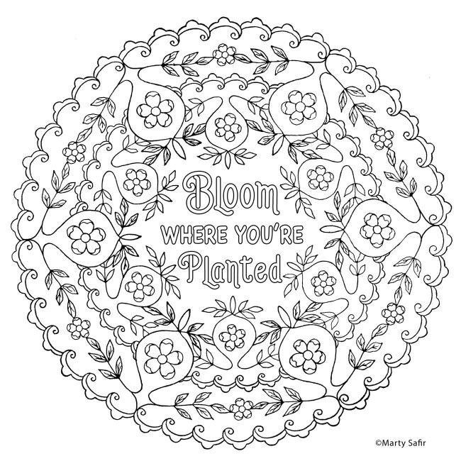 Bloom Where You Re Planted Bible Verse Coloring Coloring Pages Printable Crafts