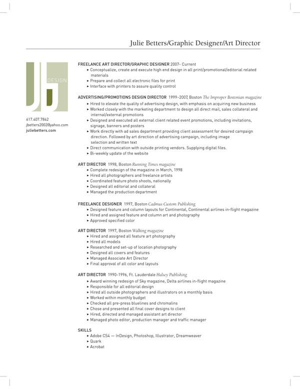 resume by juliebetters GD portfolio Pinterest - associate web designer resume
