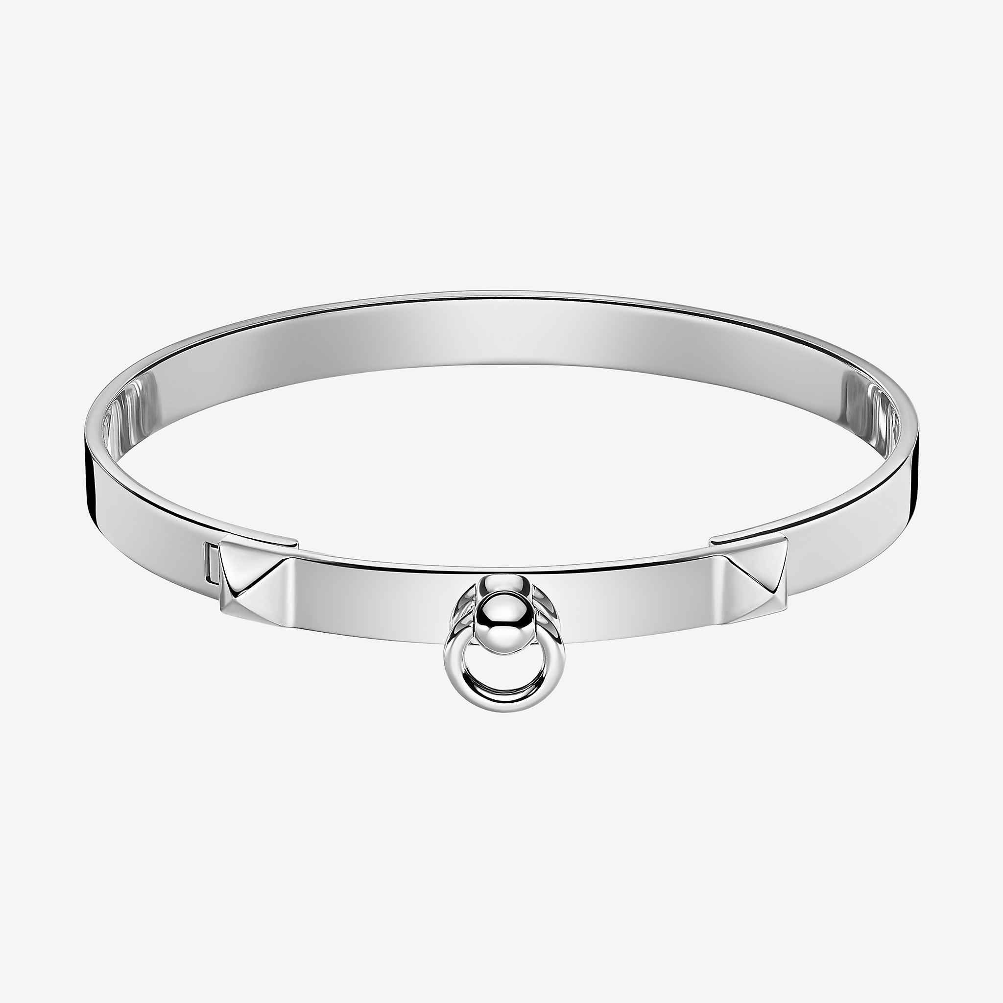 cuff swift de bracelet garderobe chien collier products silver alligator etoupe hermes dog kelly plated
