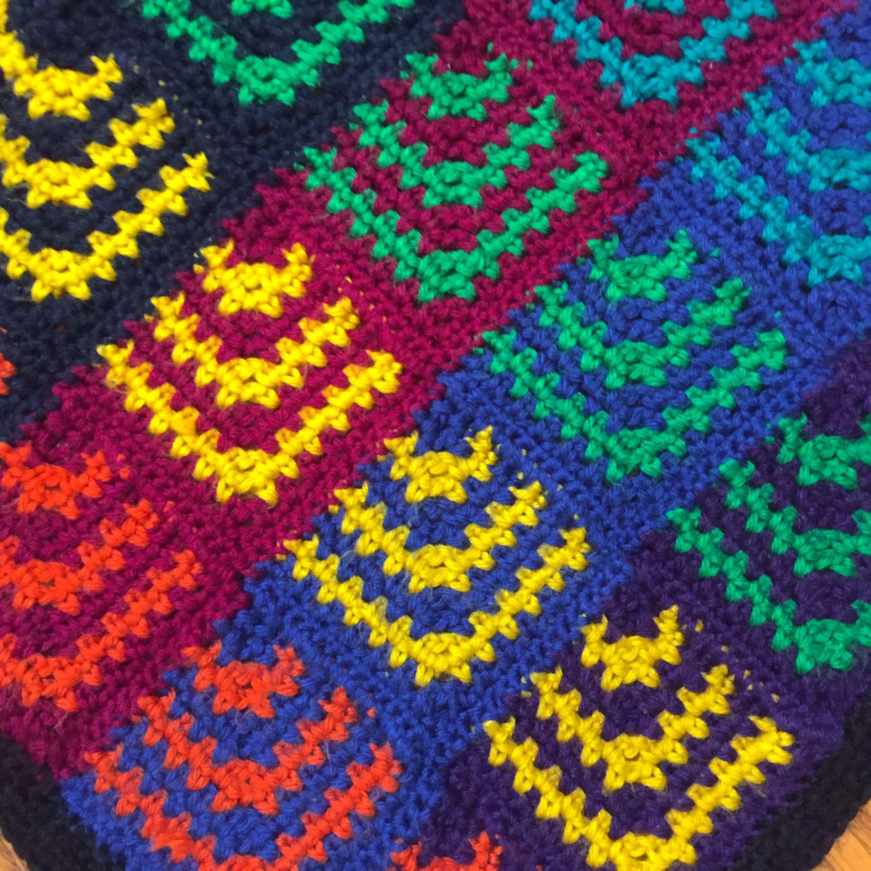 Suvi\'s Crochet: Rainbow Sunburst Blanket - free crochet pattern | My ...