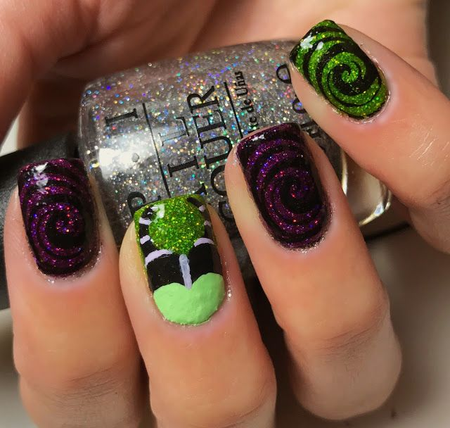 Maleficent nail art | Nails by an OPI Addict | Pinterest ...