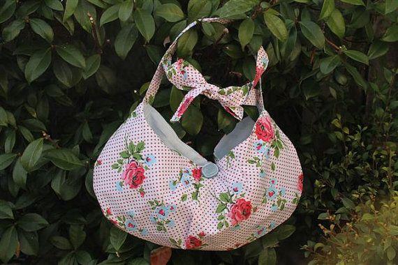 Cute floral handbag with adjustable shoulder by TheBagCottage