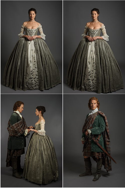 claire and jamie's wedding costumes montage | outlander s1e7 'the
