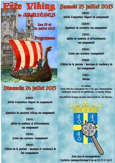 affiche Fête Viking et Marché Médiéval de Jumièges