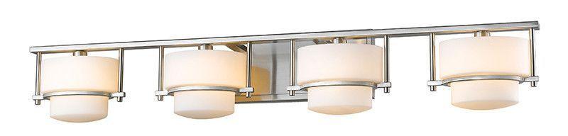 Z-Lite 3030-4V-BN 4 Light Vanity Light Vanities, Brushed nickel