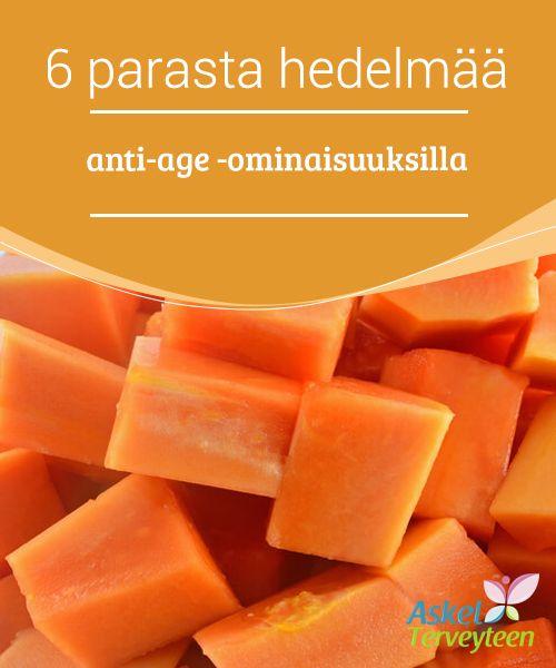 6 parasta hedelmää anti-age -ominaisuuksilla   #Päivittäinen hedelmien syönti antaa kehollemme #tarvittavat vitamiinit ja mineraalit, mutta eräät hedelmät erottuvat erityisesti joukosta tehokkaiden #antioksidanttiominaisuuksiensa ansiosta.  #Kauneus