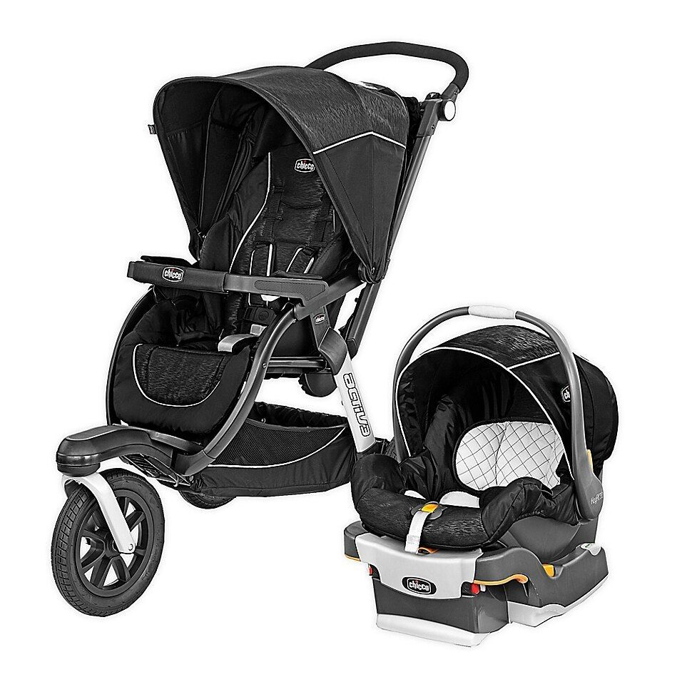 Chicco Activ3 Jogging Travel System In Crux Black Discover
