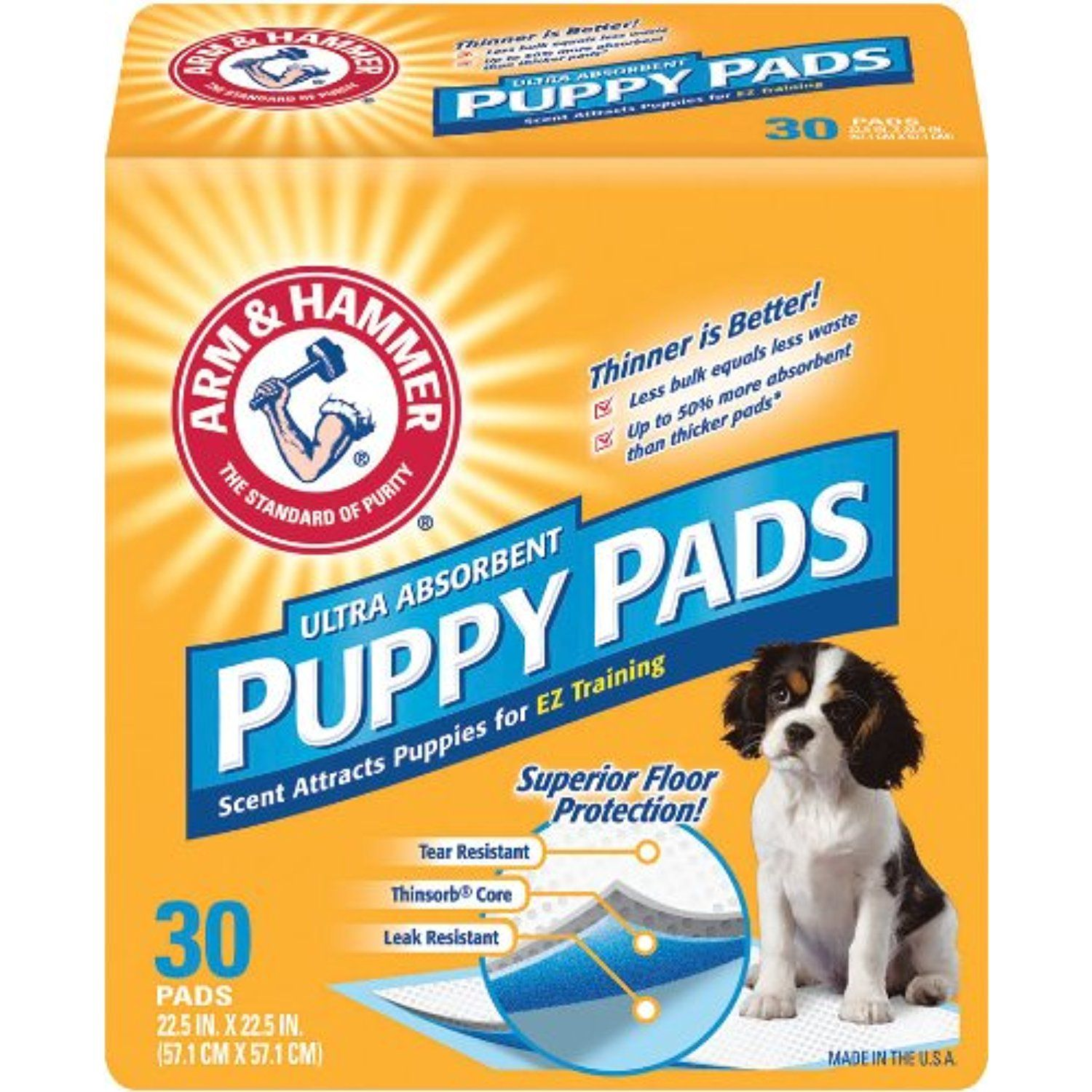 Arm & Hammer Ultra Absorbent Puppy Pads, 30 ea For you