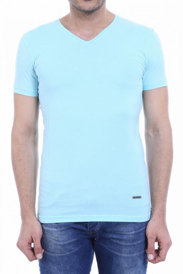 V Yaka Duz Buz Mavi T Shirt Kapida Odemeli Ucuz Bayan Giyim Online Alisveris Sitesi Modivera Com Erkek Tisort Tisort Modelleri Tisort
