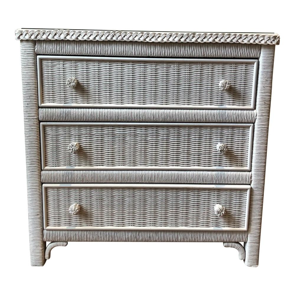 Henry Link White Wicker Dresser With Shelves Wicker Dresser White Wicker Dresser Shelves [ 1000 x 1000 Pixel ]