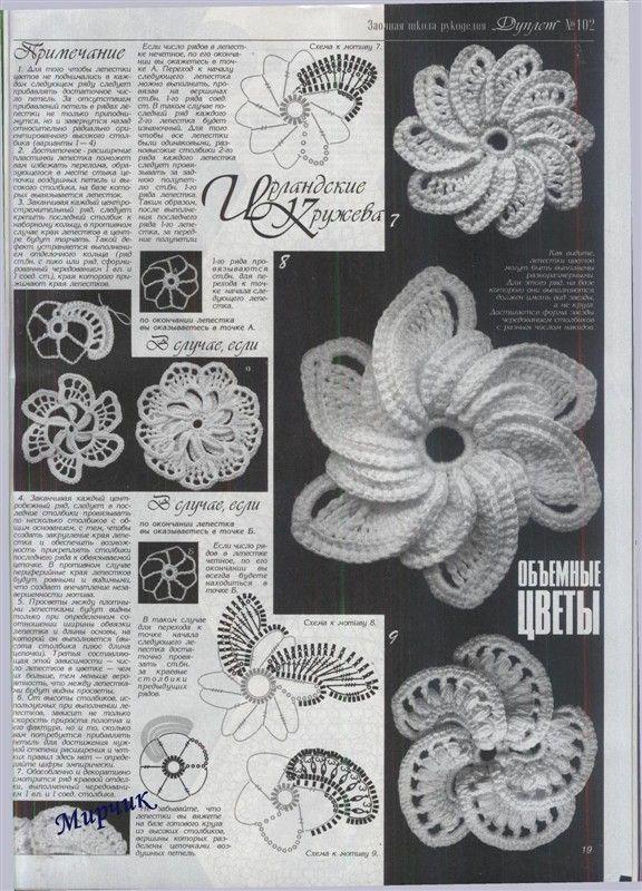Patrones Crochet Flores Espirales - Patrones Crochet | Manualidades ...