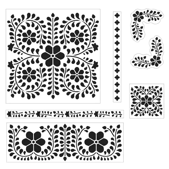 DIY Home Bone Inlay Laser Stencil Set by ArtMinds®