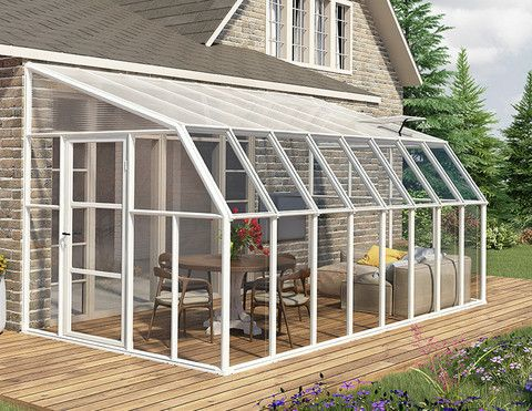 Sunroom Kit 8 X 10 Clear Acrylic Panels Sunroom Kits Greenhouse Plans Greenhouse