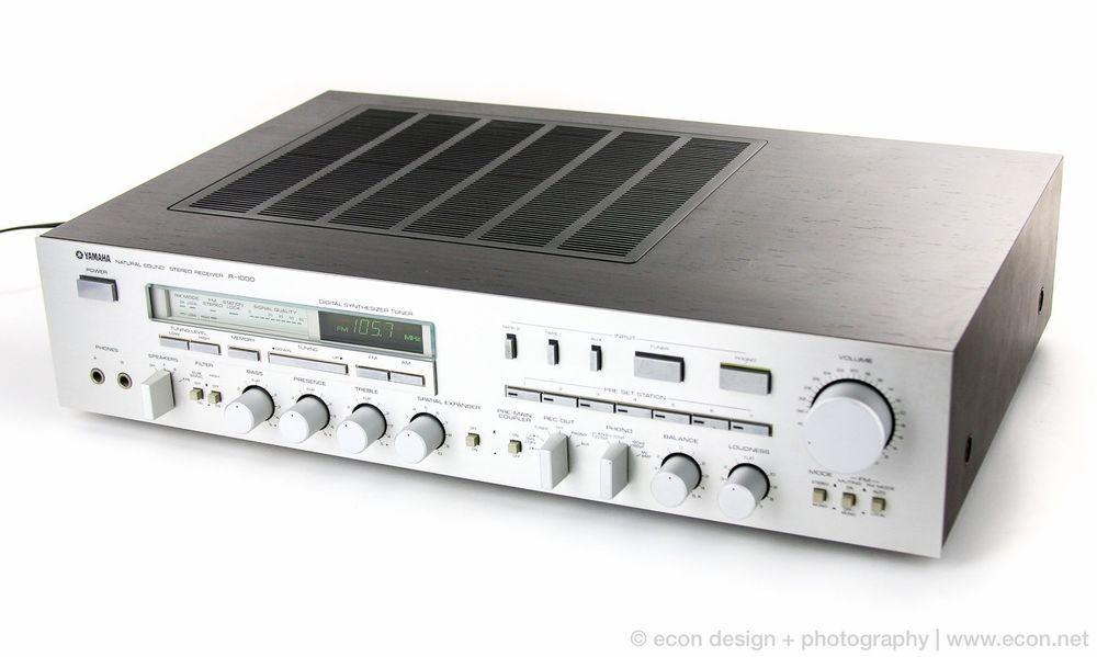 Vintage Yamaha R 1000 Natural Sound Am Fm Stereo Receiver Mint In Original Box Stereo The Originals Vintage