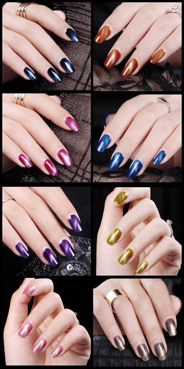 108 Colors Cat Eyes Magnetic Magic Nail Art UV Gel Polish 12ml Cat\'s ...