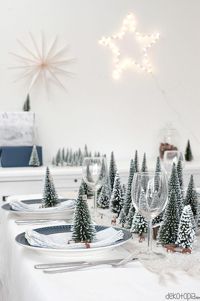 DIYnachten: Winterwald Tischdeko mit NOCH kreativ #christmasdeko