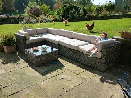 Rattan corner sofa in St Albans Customer Pictures Pinterest