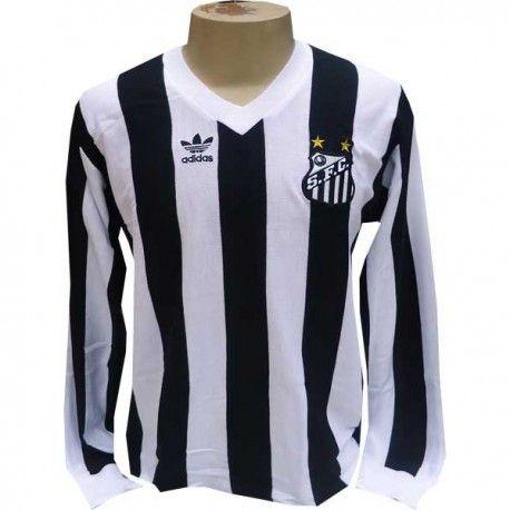 1ce256719 Camisa Retrô Santos Logo Manga Longa