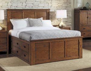 Solid Mindi Wood Mission Hills 9 Drawer Queen Size Storage