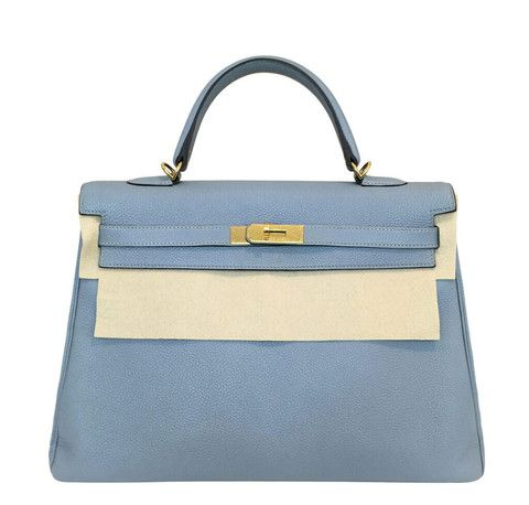Beautiful Hermes Kelly 35 in the rare Blue Lin color. See our full  collection now!  baghunter b7c72577eb