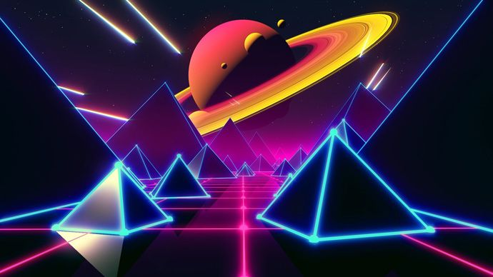 Cinema 4D and After Effects - Looped Retro Space Scene Tutorial