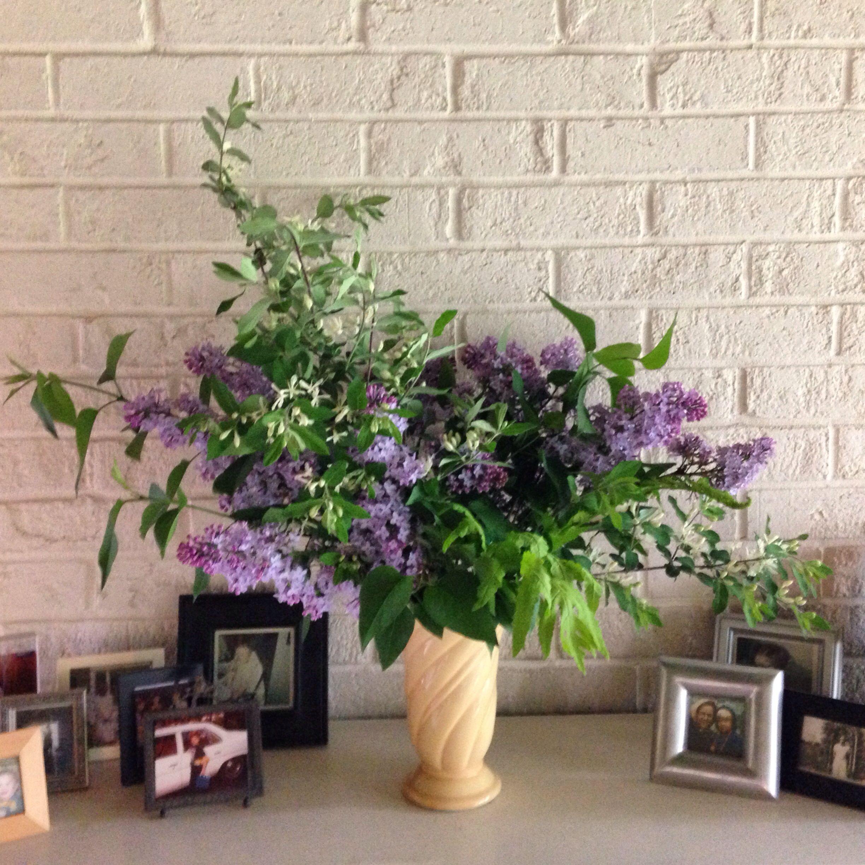 Lilacs And Honeysuckle Flower Arrangements Flowers Plants