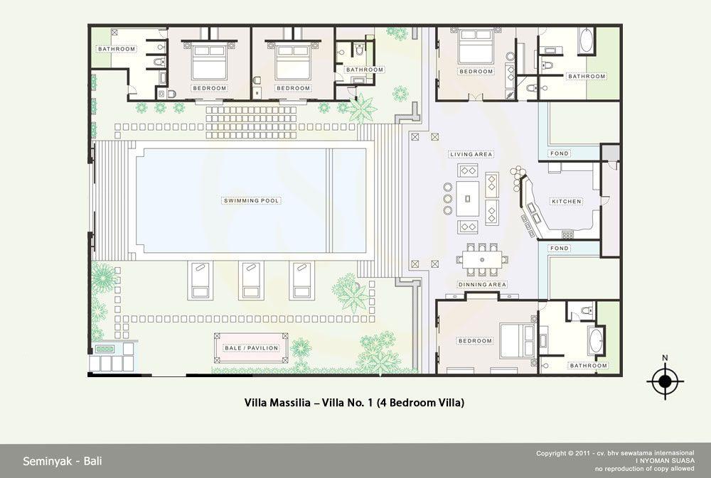 A Luxury Private Villas In Seminyak Bali House Plans Floor Plans Villa Plan