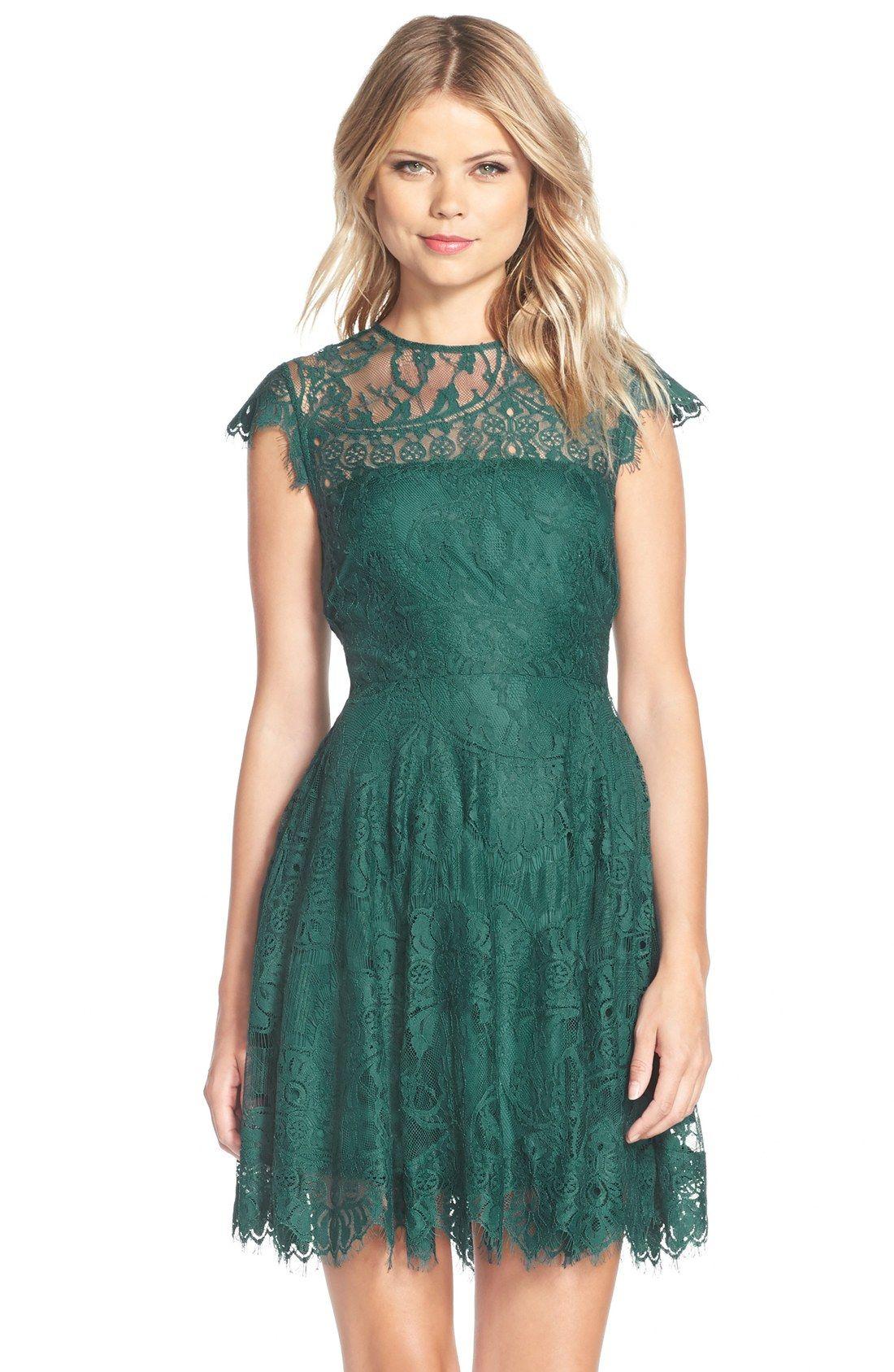 BB Dakota \'Rhianna\' Illusion Yoke Lace Fit & Flare Dress (Nordstrom ...