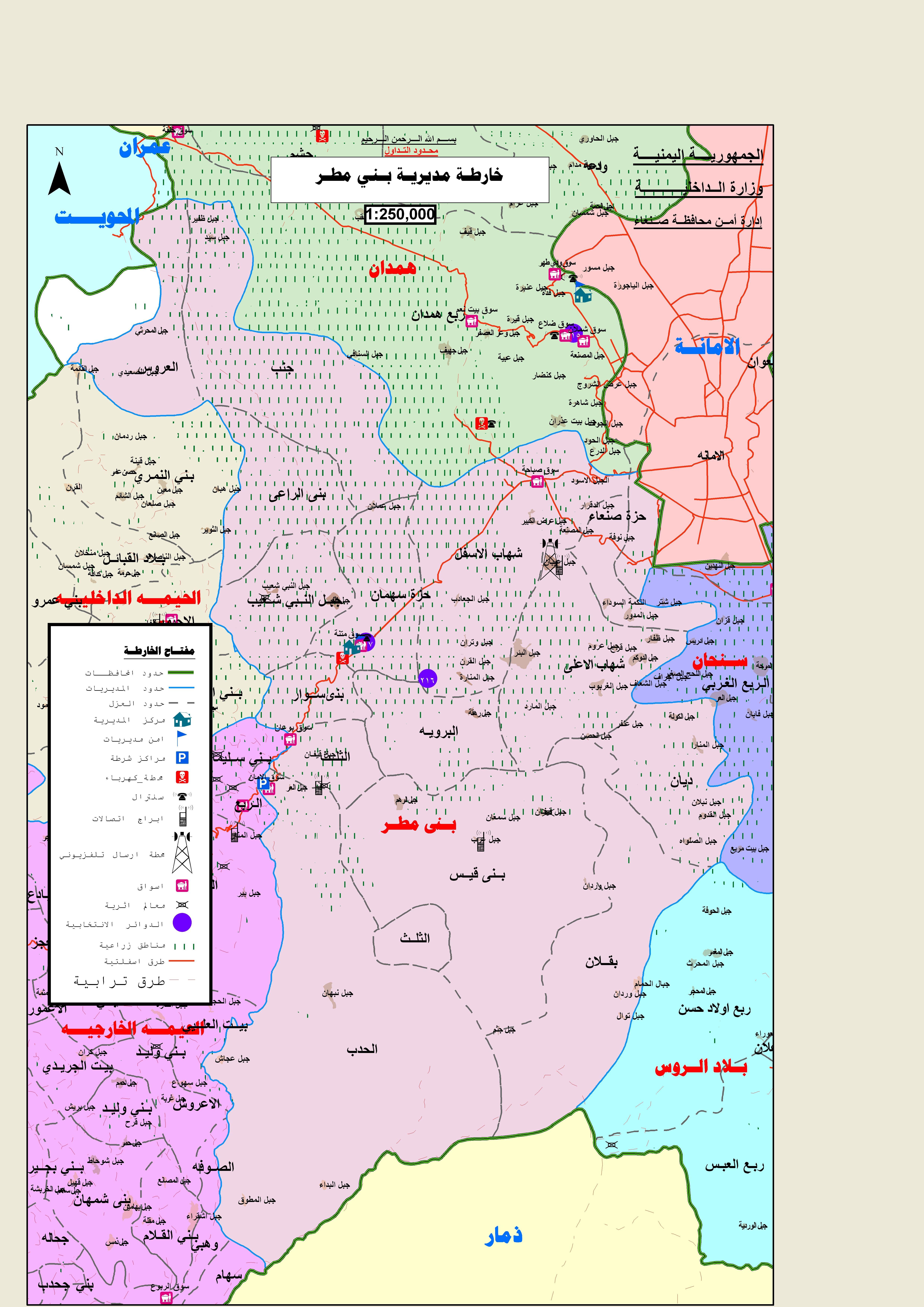 بني مطر Map Map Screenshot