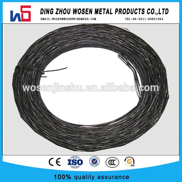 Bwg18(1.24mm) Twisted Wire Black Annealed twisted tie wire/double ...
