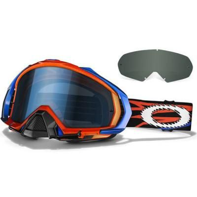 mens oakley ski goggles  Oakley Mayhem TLD Zap Goggles Bright Orange w/Blue Oakley Men\u0027s ...