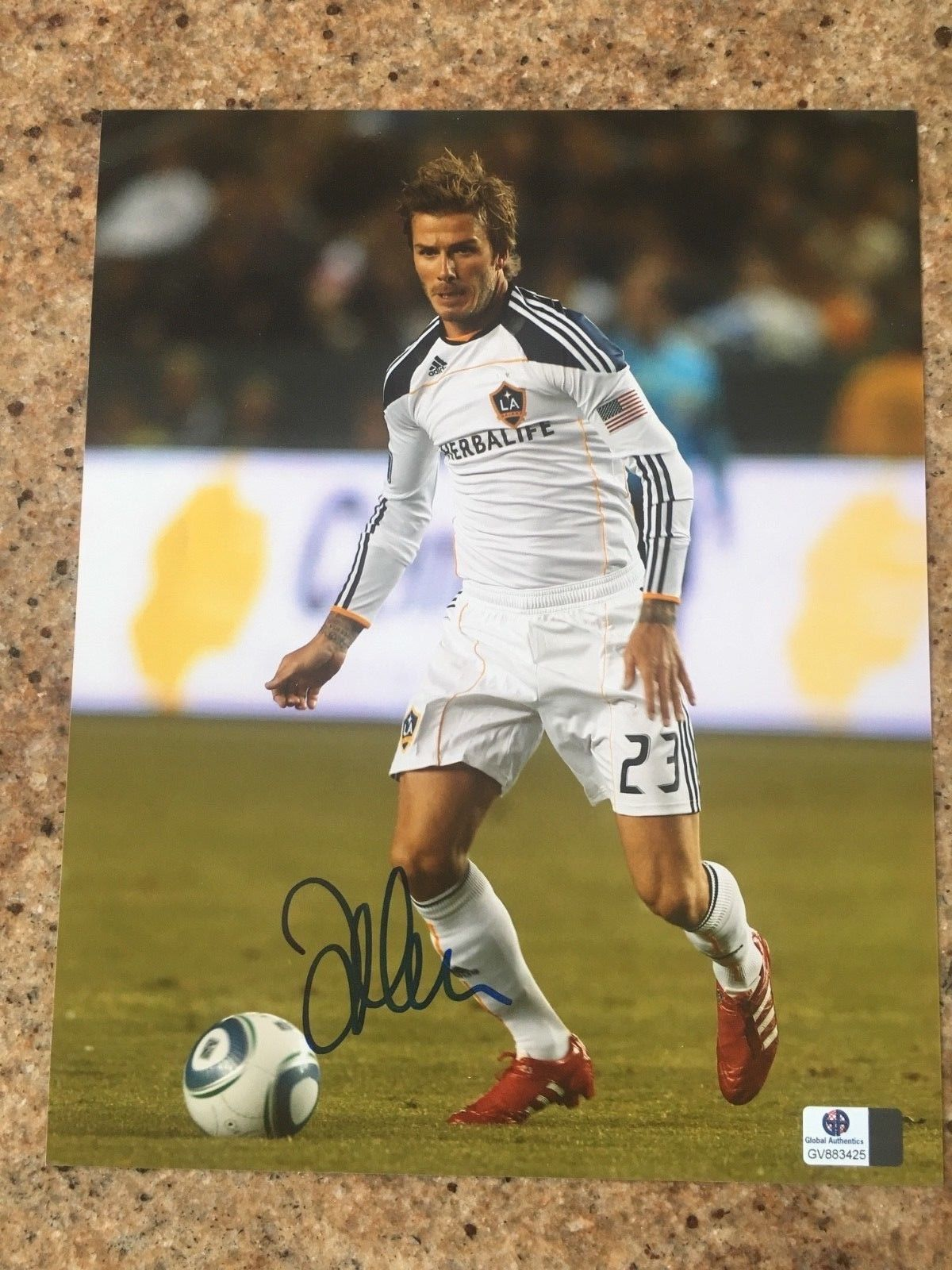 David Beckham Galaxy England Manchester Real Madrid World Cup 8x10 photo GA  COA (eBay Link) e13381406