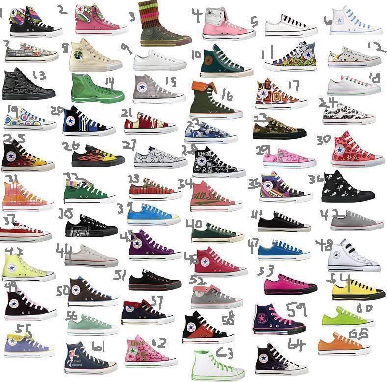 converse shoes different colors