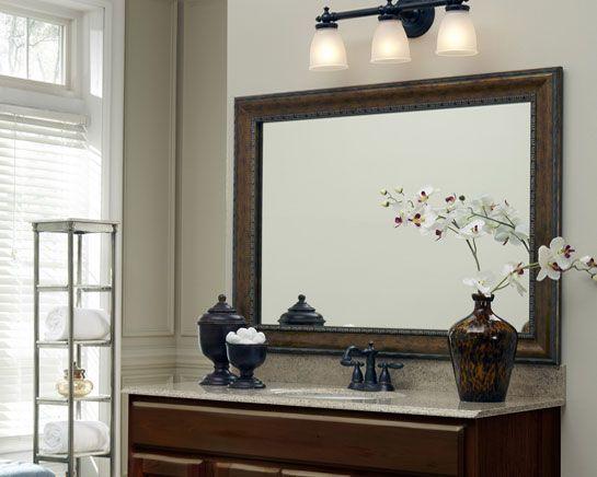 makeovers frame a bathroom mirror framing existing mirrors mirrormate frames - Mirrormate Frames