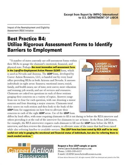 Usdol Research On Rea  Reseas Describes Leap For Ui Claimants