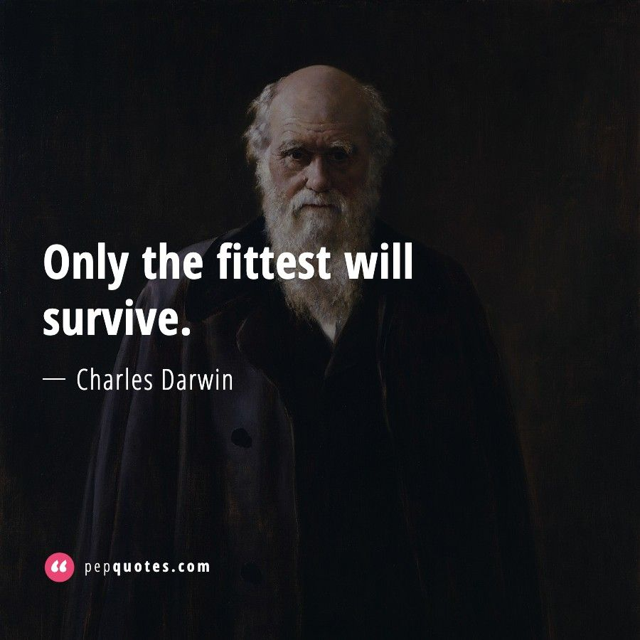 Only The Fittest Will Survive Charles Darwin Quotes Charles Darwin Quotes Darwin Quotes Charles Darwin