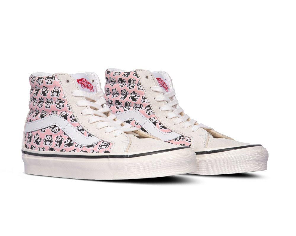 Vans SK8 Hi 38 Dx Anaheim Factory OG Pandas OG White OG Pink
