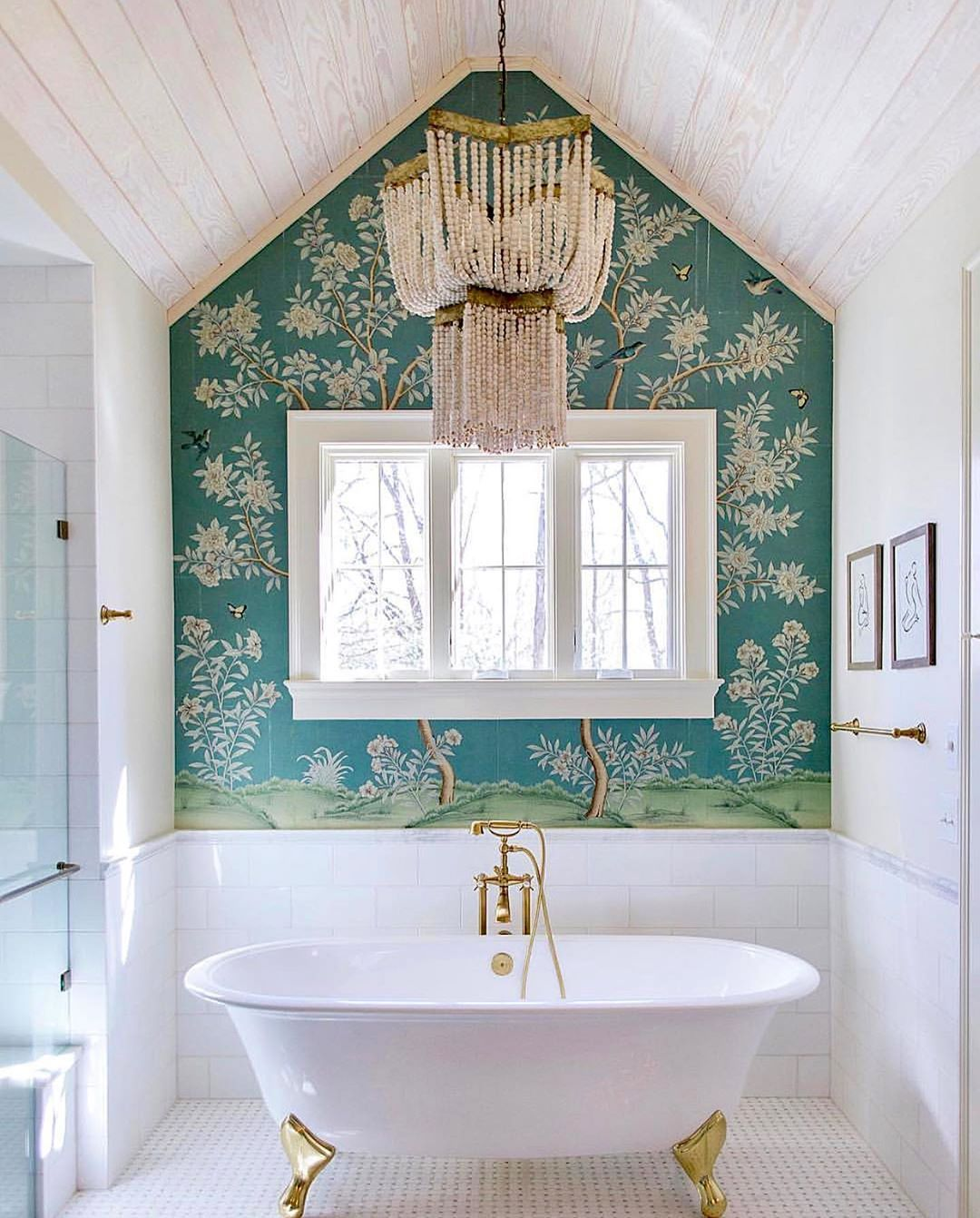 "GRACIE on Instagram: ""@carolinebrackettdesign designed this beautiful blue bathroom which should help us all get through the midweek slump! � � � . . �…"""