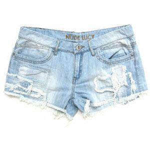 blue jean shorts for women