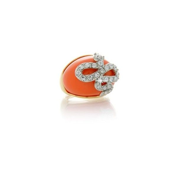 KENNETH JAY LANE Coral Snake Dome Ring ($135) ❤ liked on Polyvore