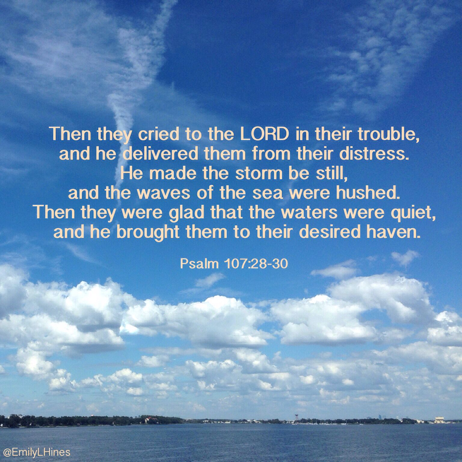 A Bible Verse About The Guidance And Power Of God During Times Of Distress.  A Reminder That The Lord Is Always With Us.
