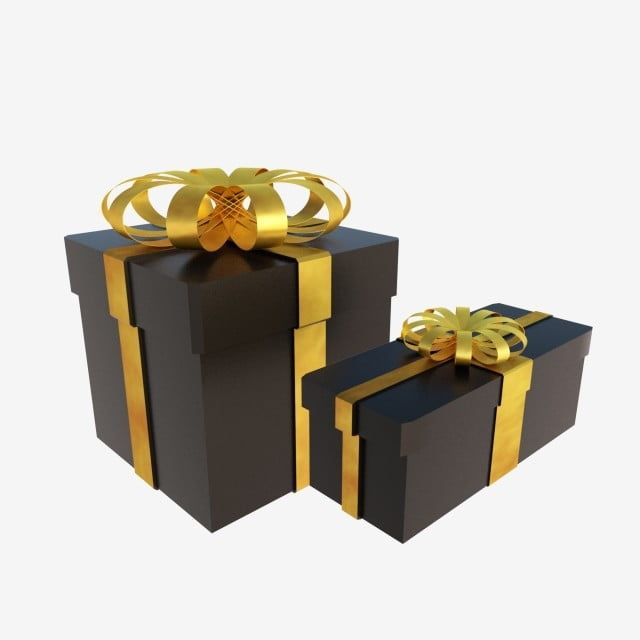 C4d 3d Stereo Black Gold Exquisite Gift Box Gift Box Simple Gift Box Holiday Gift Box Decoration Png Transparent Clipart Image And Psd File For Free Download Gift Boxes Decoration Background
