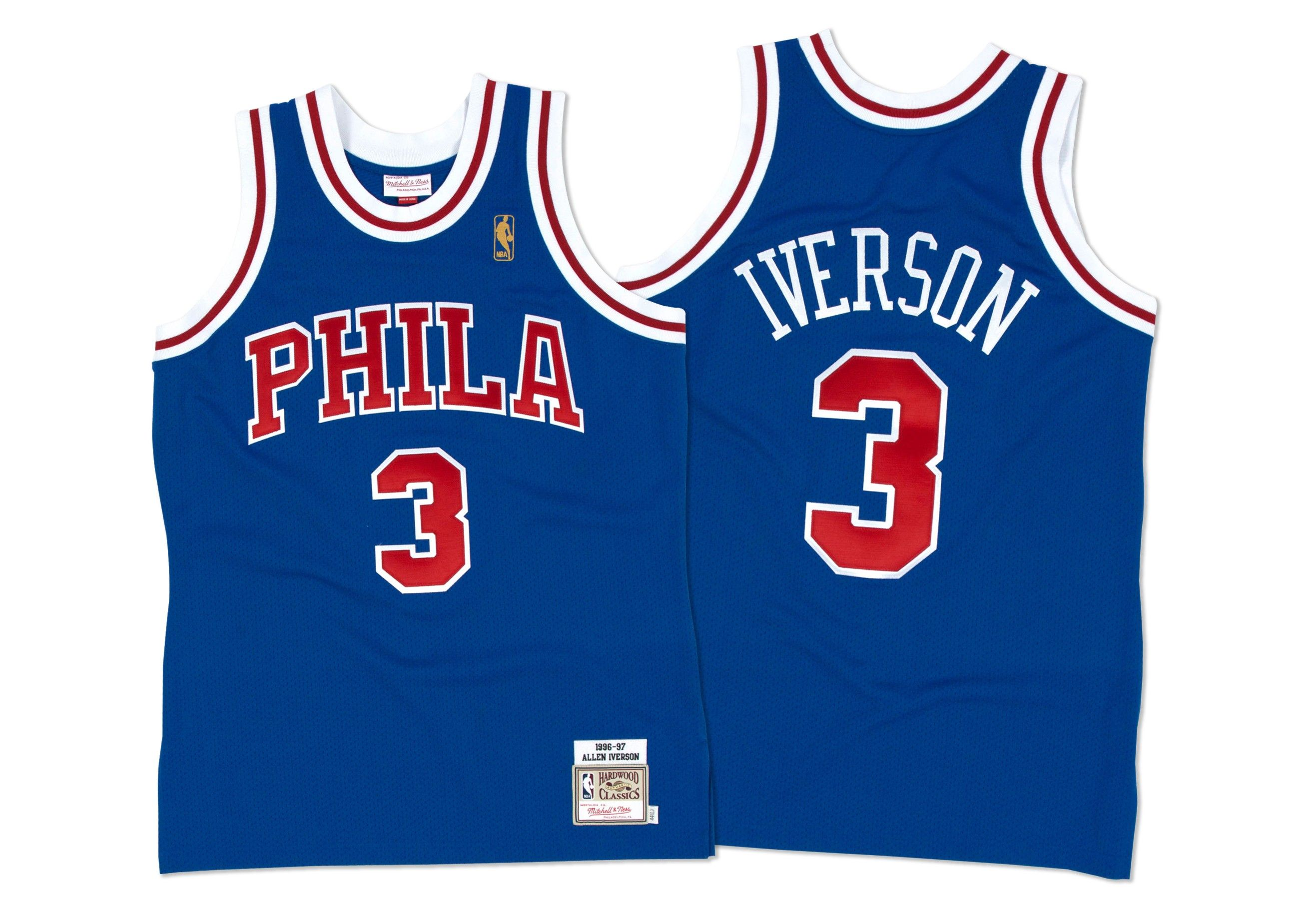 55b034c18c4a ... Throwback Jersey Allen Iverson 1996-97 Authentic Jersey Philadelphia  76ers Mitchell Ness ...