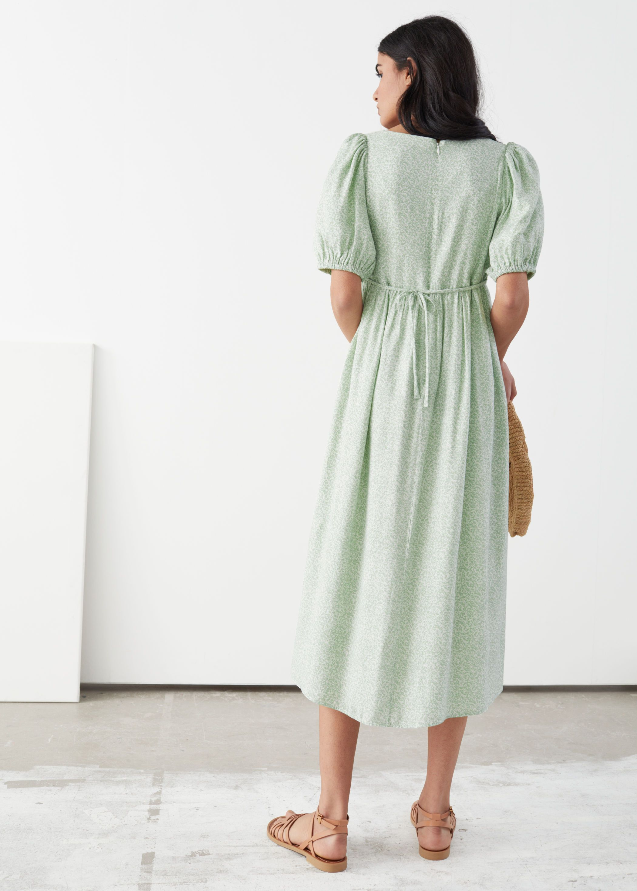 Pdp Puff Sleeve Midi Dresses Midi Dress Dresses [ 2940 x 2100 Pixel ]