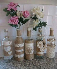 ideas ms creativas para decorar botellas y frascos de vidrio