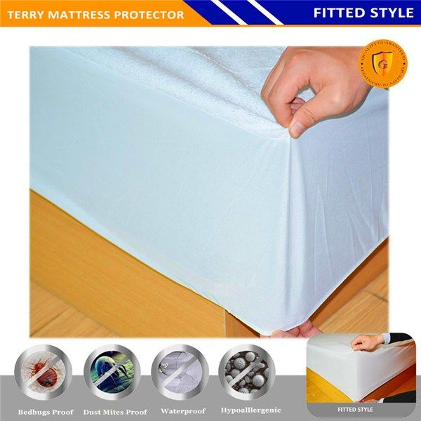 Anti Bacterial Anti Dust Mite Waterproof Mattress Cover Mattress Protector Terry Cloth In Vaughan Waterproof Mattress Cover Waterproof Mattress Mattress Covers