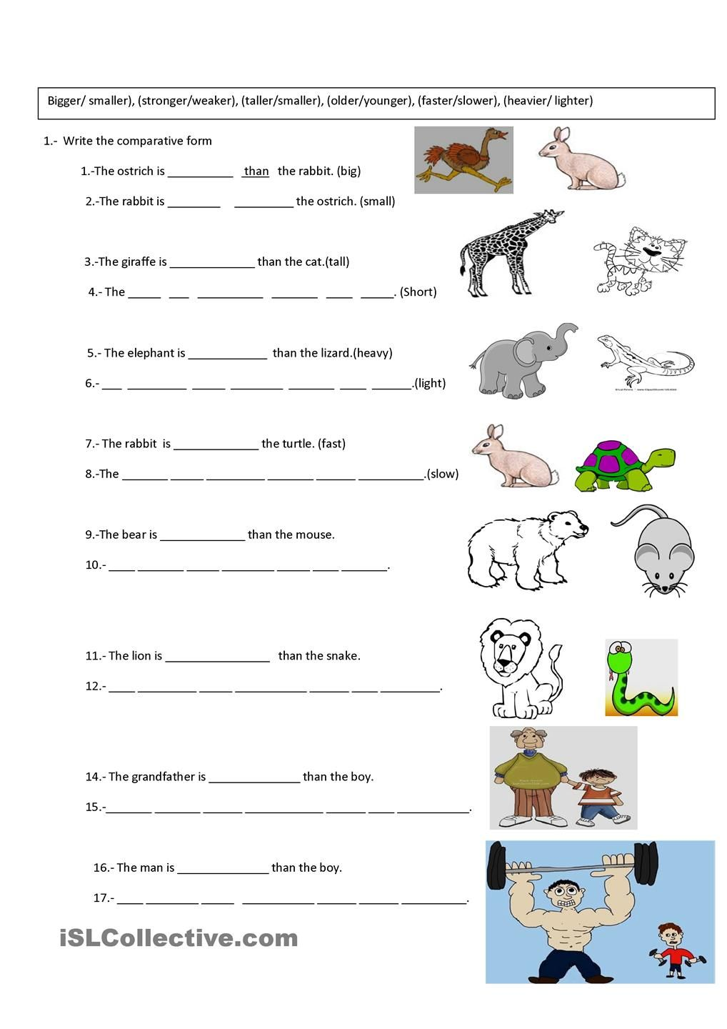 worksheet Comparative Superlative Worksheet 1000 images about comparative and superlative adjectives on pinterest activities fun dip adjective games