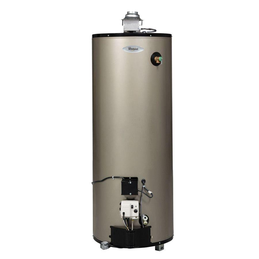 Whirlpool 50 Gallon 12 Year Limited Residential Tall Natural Gas Water Heater Lowes Com Natural Gas Water Heater Gas Water Heater Water Heater