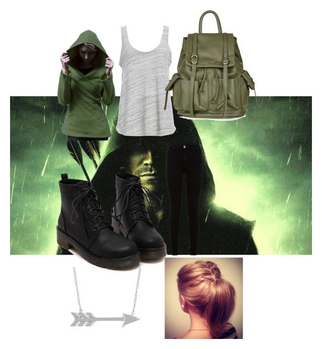 """""""Green Arrow- superhero #8"""" by rainy-kat ❤ liked on Polyvore featuring 7 For All Mankind, Project Social T, Allurez, CO and Topshop"""