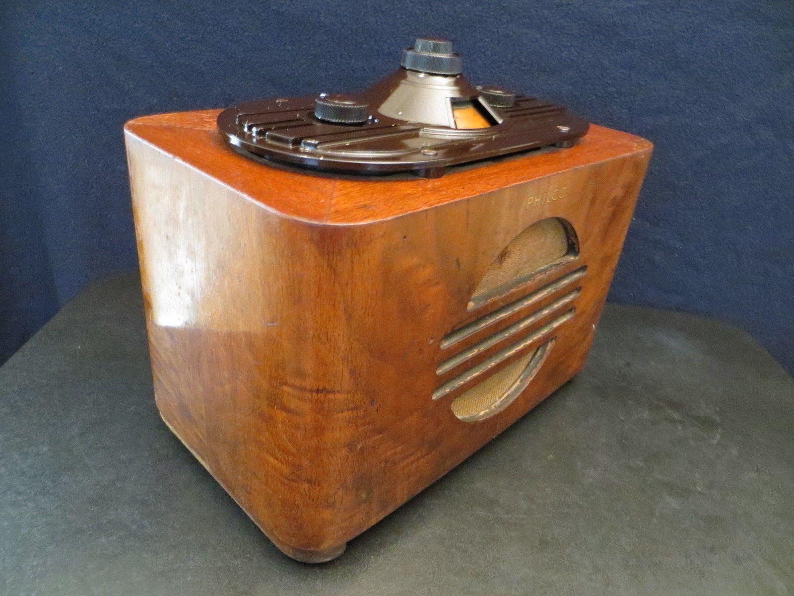 VINTAGE 30s OLD PHILCO EXCELLENT MACHINE AGE ANTIQUE RADIO ...